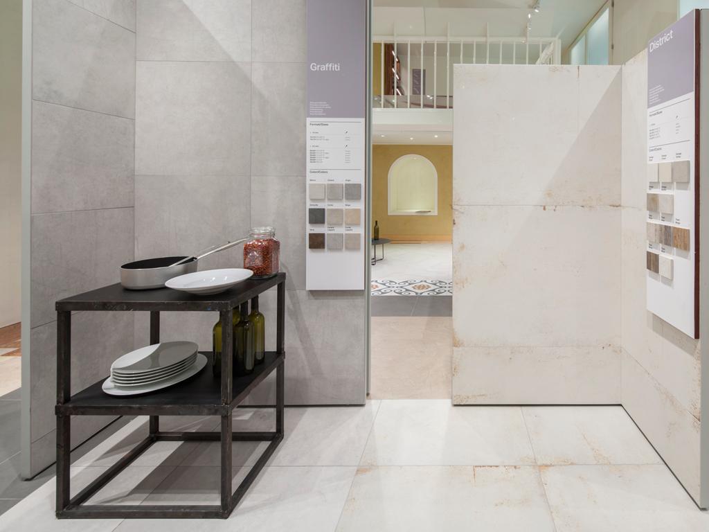 Refin studio: showroom concept di piastrelle a milano